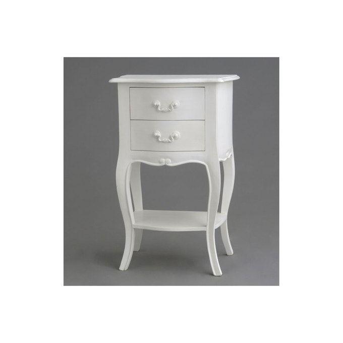 Table De Chevet Chic Apollonia Blanc Hellin Depuis 1862 La Redoute En 2020 Table De Chevet Chevet Mobilier De Salon