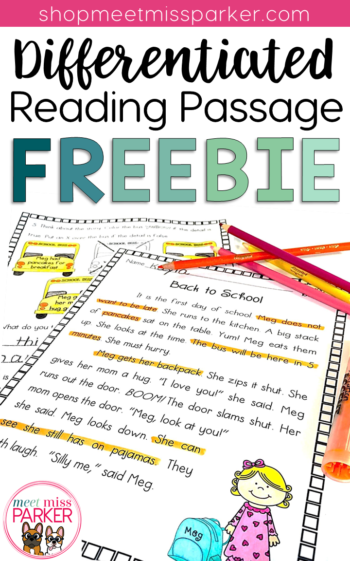 Free Differentiated Reading Passage For 2nd Grade This Free Reading Comprehension Pass Differentiated Reading Passages Differentiated Reading Reading Passages [ 1152 x 720 Pixel ]