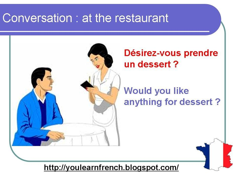 French Lesson 75 - At the restaurant - Ordering food - Dialogue