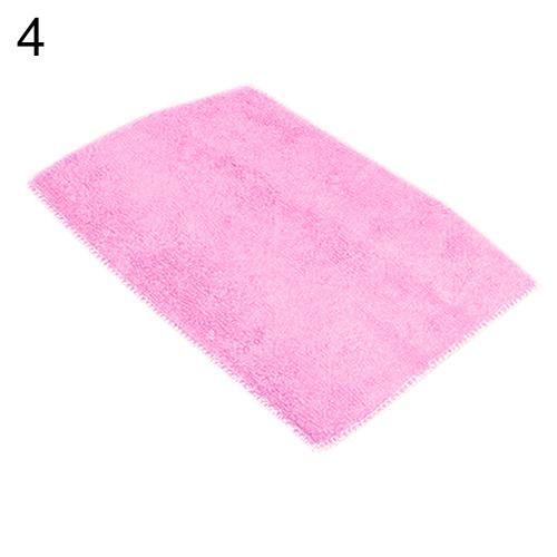 Dish Towel Dishcloth Bamboo Fiber Oil Washing Towels Scouring Pad Kitchen Gadget - Pink