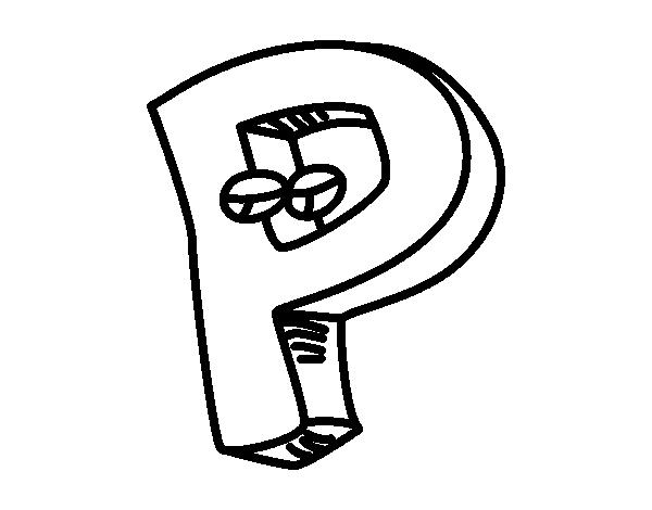 letra p para colorear