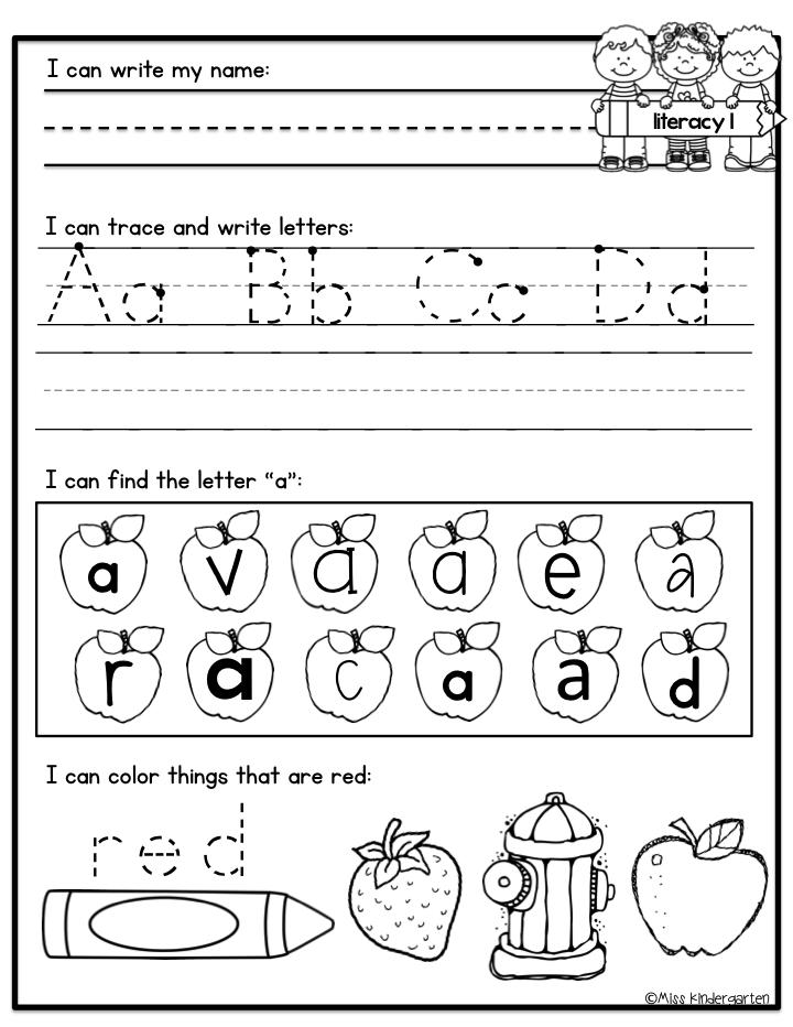 Kindergarten Morning Work | Kind