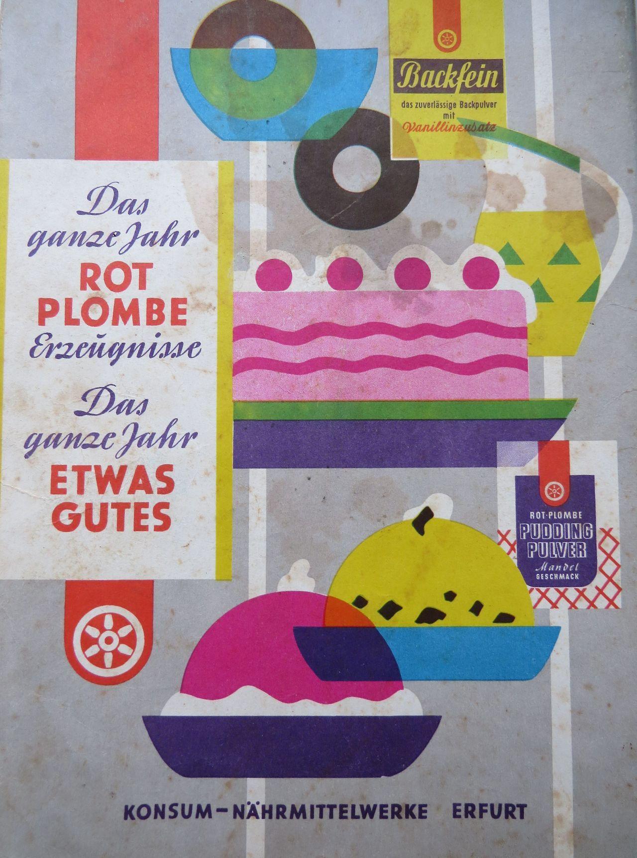 East german vintage ad werbung aus der ddr 1963 rotplombe erfurt pinterest ddr datsche - Geburtstagsideen berlin ...