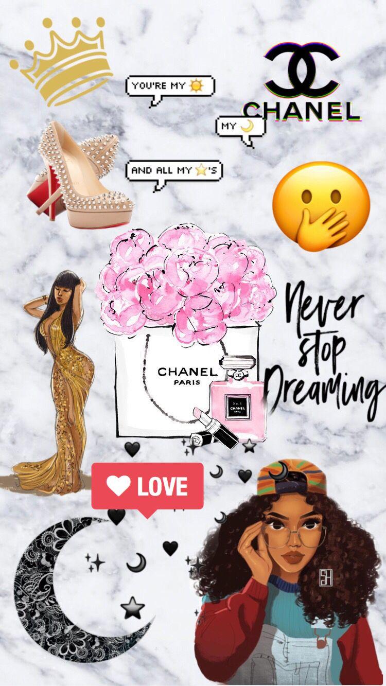 Baddie Chanel Inspired Wallpaper Girly Wallpaper Chanelwallpaper Bla Chanel Wallpapers Cartoon Wallpaper Iphone Iphone Wallpaper Tumblr Aesthetic