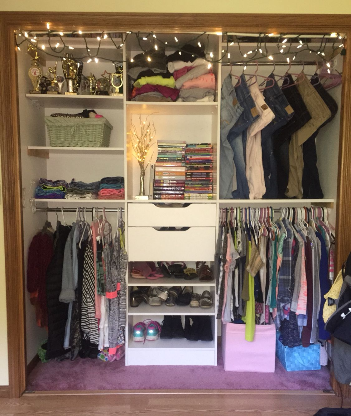 ~California Style Closet~ These Closets Are Nice And Convenient Because You  Can Chang Them