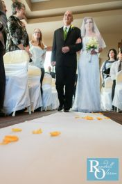 Coming down the aisle, photo by Randall Olsson Photography