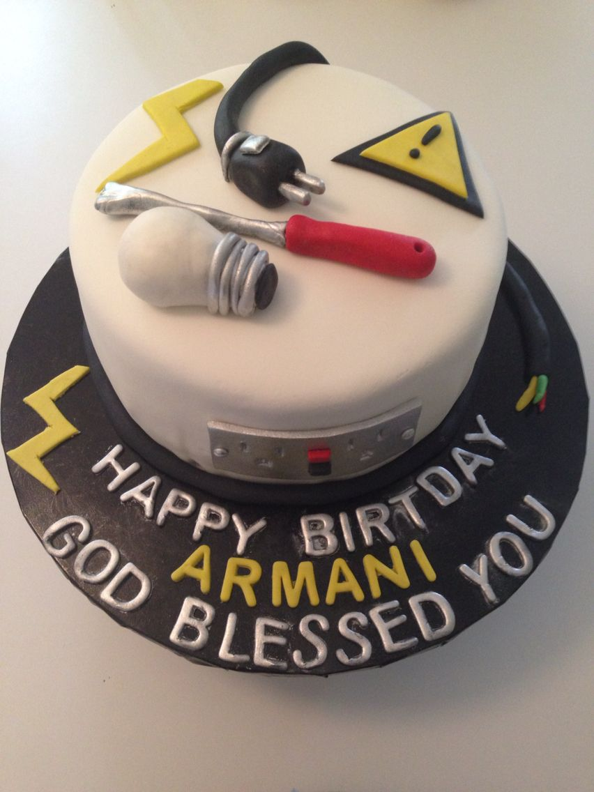 Electrician cake Sweets Pinterest Cake Birthday cakes and