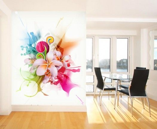 Wall Murals | ... Wall Mural Touch Of Fun And Modernism With Modern Part 62