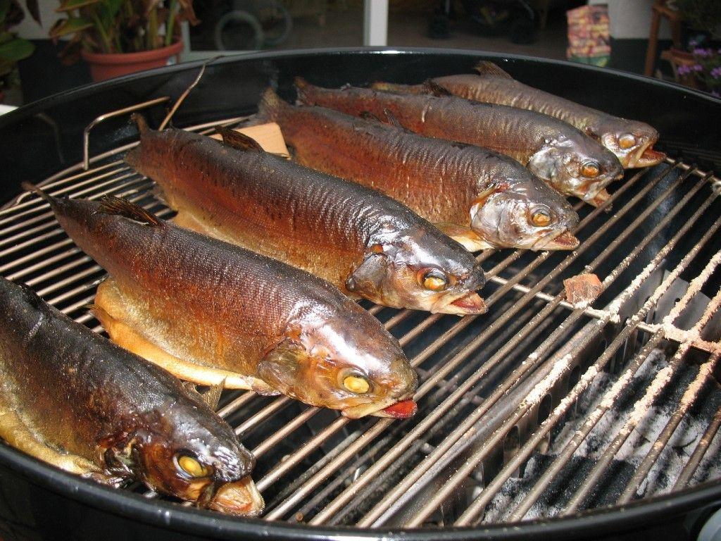 Forellen räuchern auf dem Kugelgrill #brothfonduerecipes