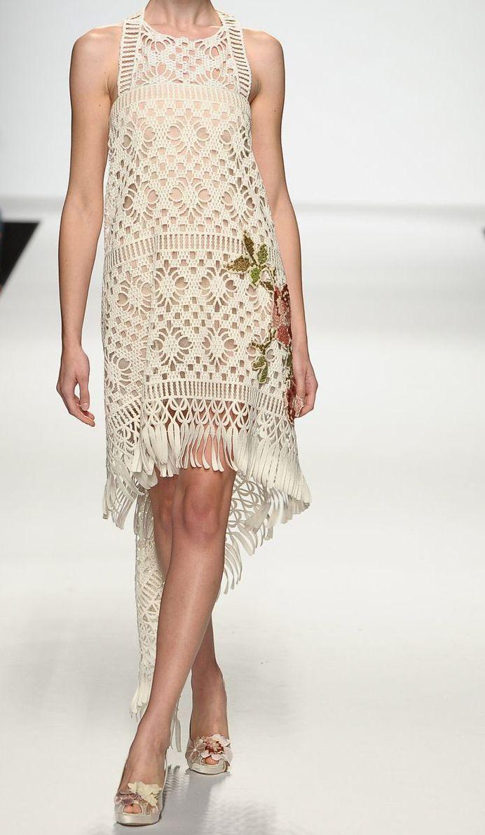 Stunning crochet dress #crochetdress
