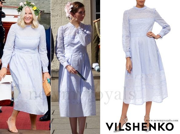Princess Claire and Princess Mette-Marit wore the same dress on the same day