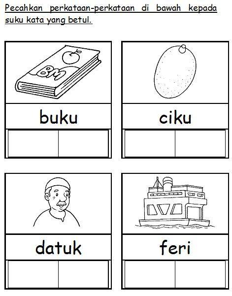 Bahasa Malaysia Prasekolah Latihan Suku Kata Preschool Learning Activities Preschool Writing Preschool Learning