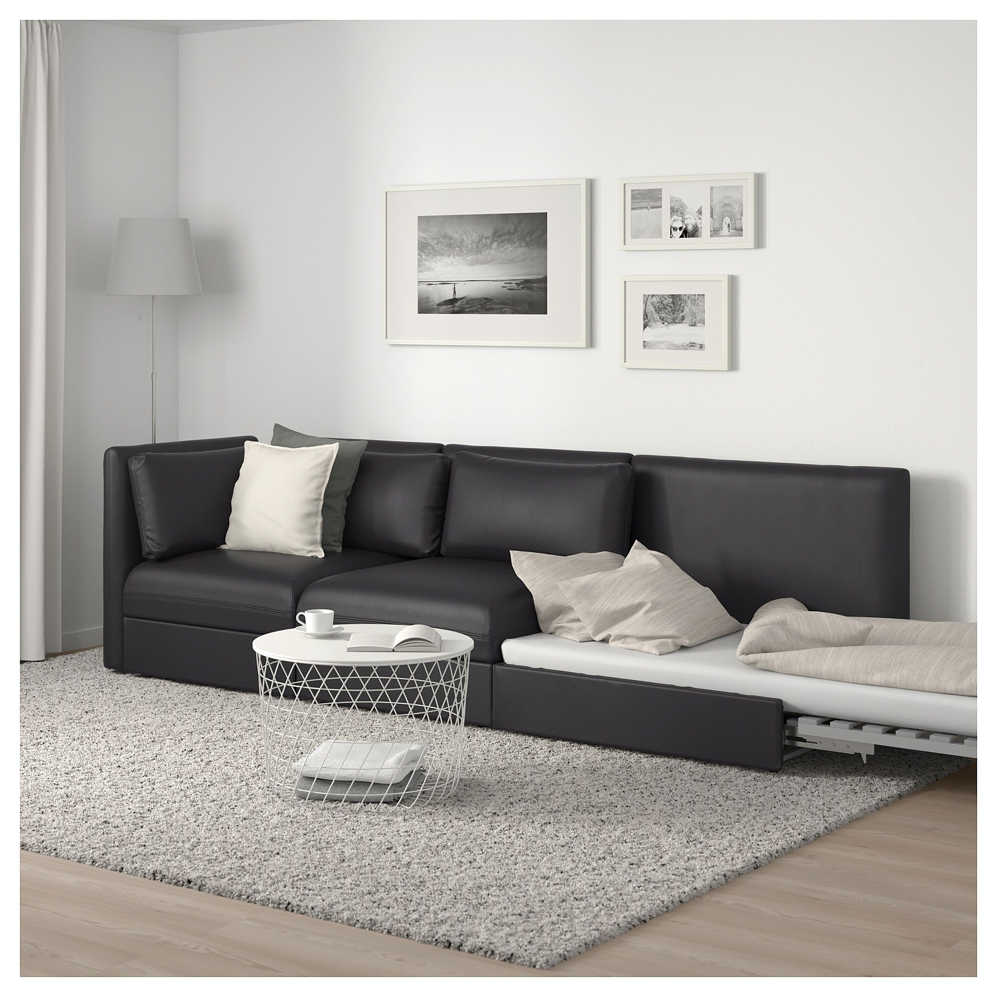 - IKEA - VALLENTUNA 3-seat Modular Sleeper Sofa With Open End, Murum
