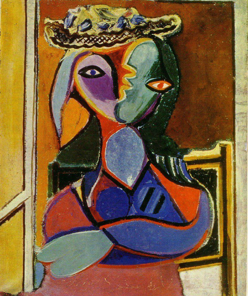 Kubisme Pablo Picasso Pablo Picasso Seated Woman 1936 Art Pablo Picasso Kunst Og
