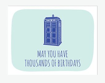 Doctor Who On Etsy A Global Handmade And Vintage Marketplace Doctor Who Birthday Funny Birthday Cards Birthday Card Printable