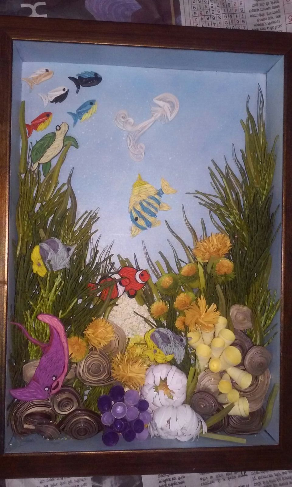 Quilling fish aquarium crafts paper crafts and quilling quilling fish aquarium jeuxipadfo Images