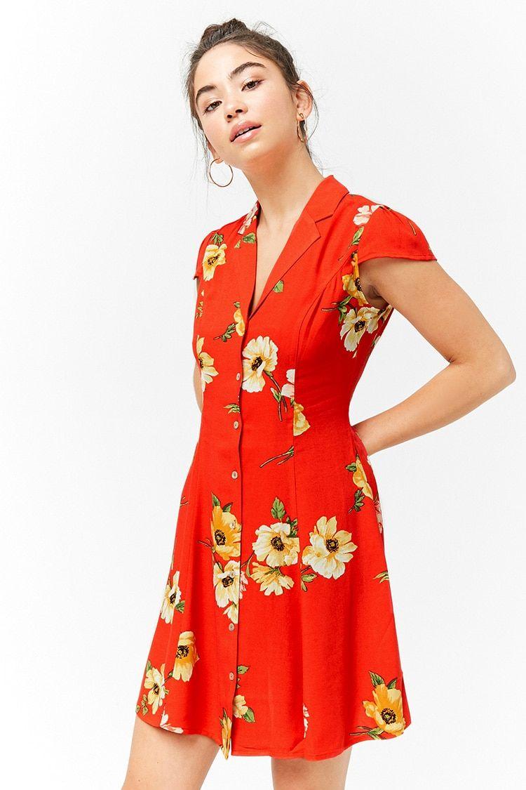 4404871cc7fa8 Vestido Corto Estampado Flores
