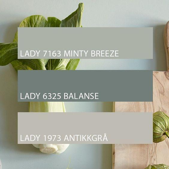 "Photo of Jotun LADY på Instagram: ""Ute etter en fin fargekombinasjon? Lad #ladybalance #jotunlady #jotun #ladymintybreeze #ladybalanse # ladyantikkgrå # interiør #inspirasjon """