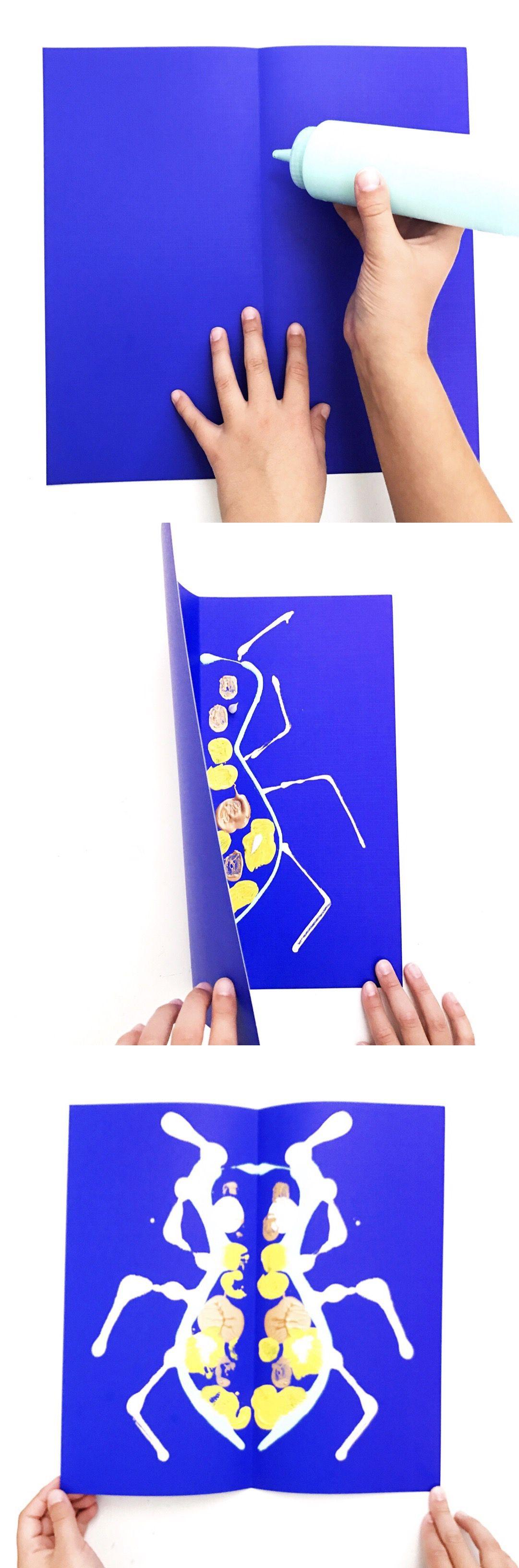 Ink Blot Bugs | Art Camp Blog | Kids printmaking, Art