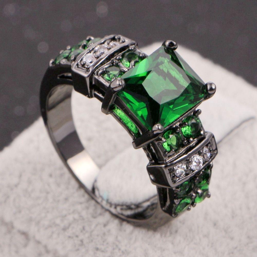 2017 Fashion Black Gold Filled Jewelry Women Ring ...