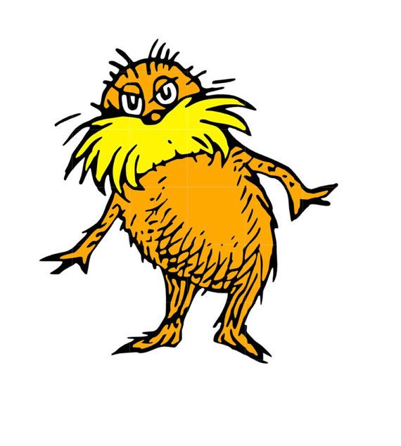 svg studio the lorax scalable vector instant by permanentmoments rh pinterest com Lorax Clip Art Black and White the lorax clip art free