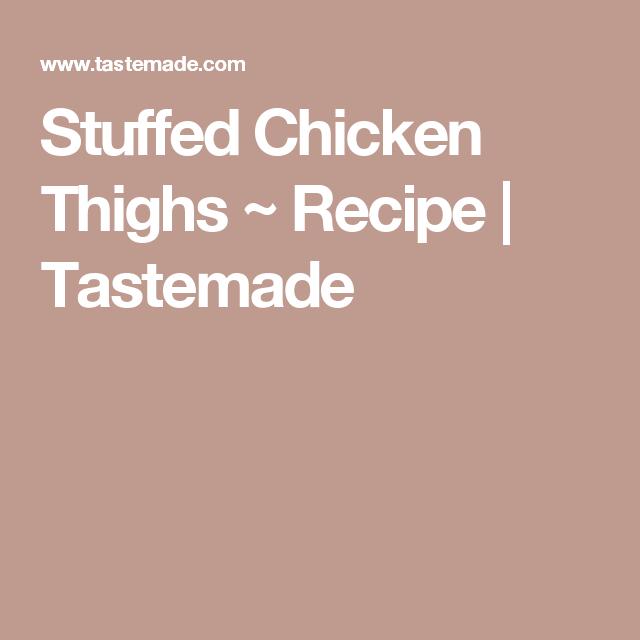 Stuffed Chicken Thighs Braised In Tomato Sauce Recipe: Chicken Thighs, Chicken
