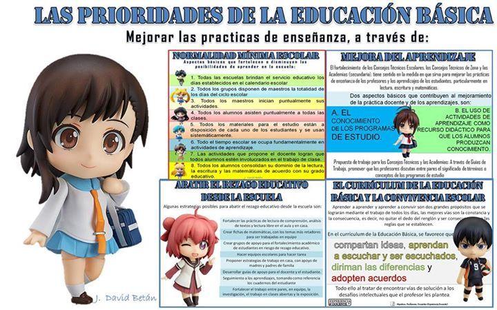 Las prioridades de la Educación Básica … | Aprendiendo a Enseñar ...