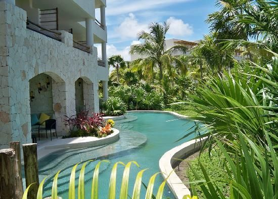 Secrets Maroma Beach, Playa del Carmen Mexico. Semi-private swim up outside our room?! YES AND THANK YOU.
