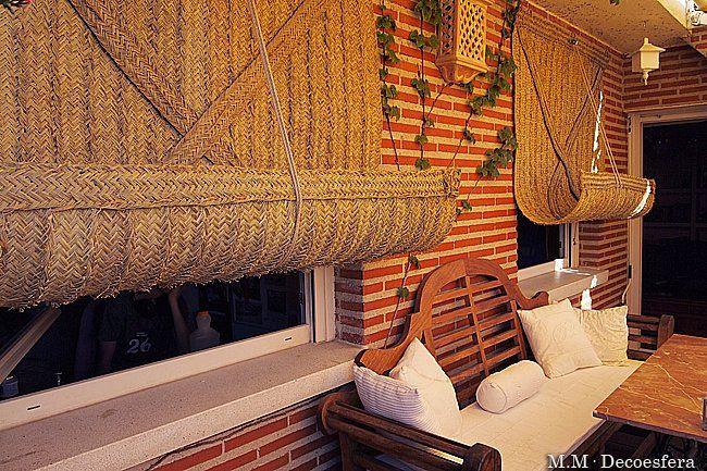 Persianas r sticas ideasenorden closets decoracion for Persianas para terrazas