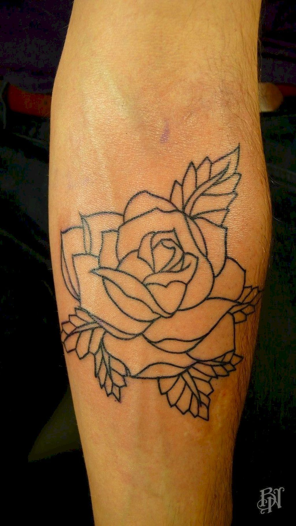 Rose Tattoos Flower: 30 Traditional Rose Outline Tattoo Designs Ideas