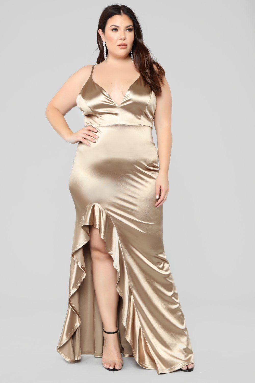 6640b54cf4 Temporary Love Satin Mermaid Dress - Gold in 2019