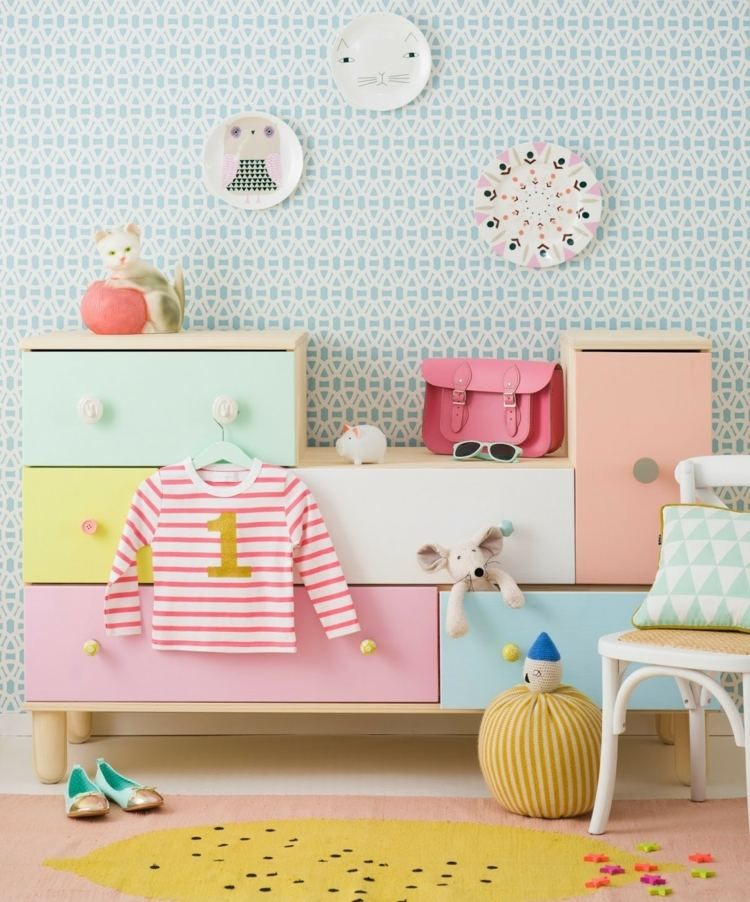 kinderzimmer skandinavisch stil pastellfarben kommode ikea pinterest kinderzimmer. Black Bedroom Furniture Sets. Home Design Ideas
