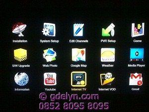 Tampilan menu Receiver Digital Satellite Openbox X5 HD PVR