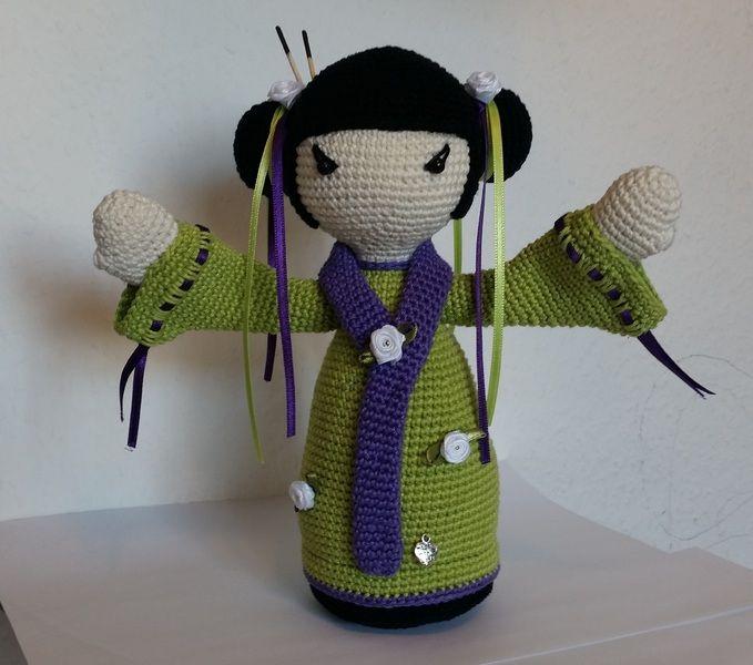 Häkelanleitung Geisha *MISAKI* japanische Puppe | japanische Puppe ...