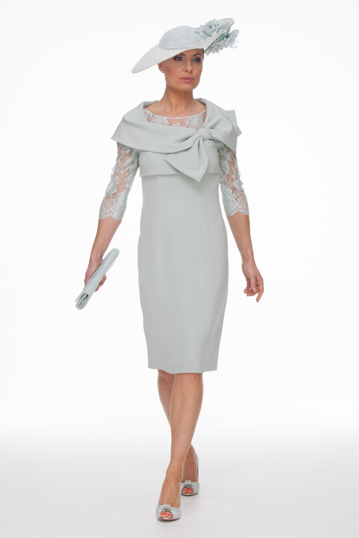 fc6fb9a7bb1 Duck Egg Lace Dress Bow Jacket Společenské Šaty