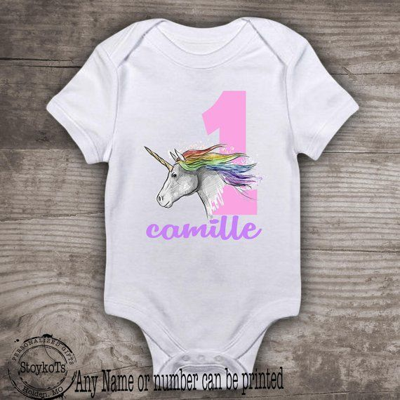 c2daa8f14aa Unicorn 1st birthday shirt for girls personalized tshirt magical first  rainbow party theme, unicorns, any birthday