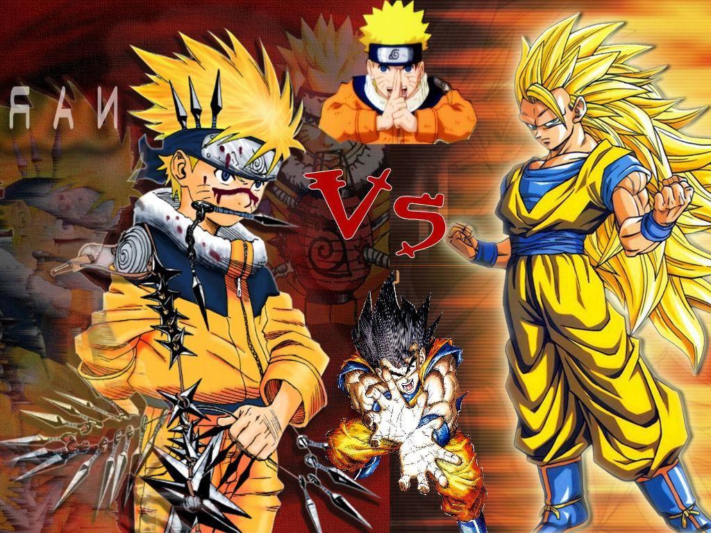 The baddest blondes of anime cartoon NARUTO vs GOKU  Geek