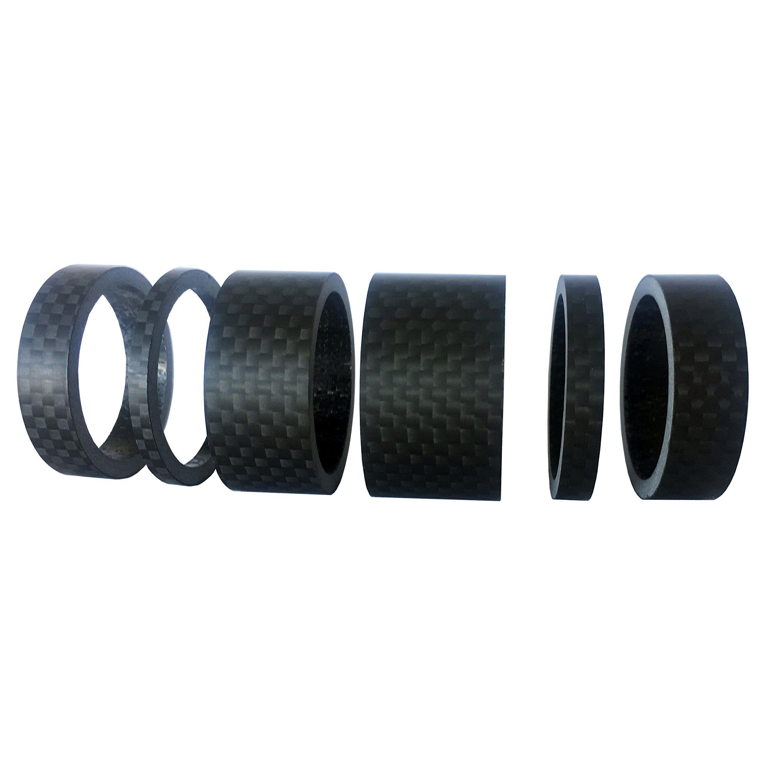 """2 Sets Carbon Fiber 5,10,15,20mm Spacers Kit 1 1//8/"""" For Stem Road Bike MTB MT"""