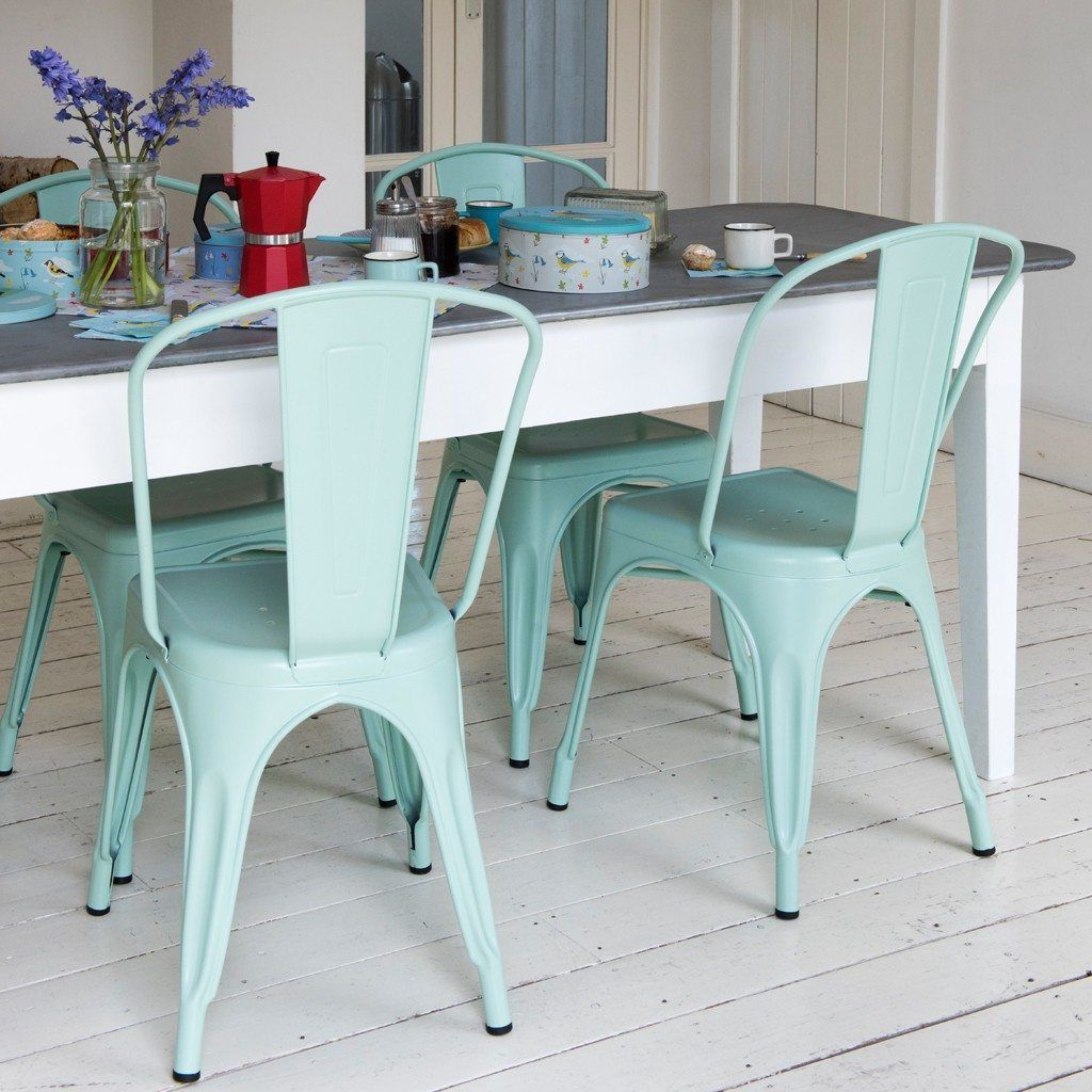 Green Parisian Style Metal Cafe Chair | Dining room | Pinterest ...