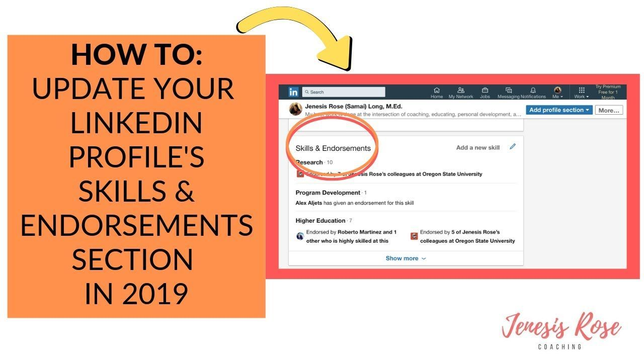 How to update your linkedin profiles skills endorsements