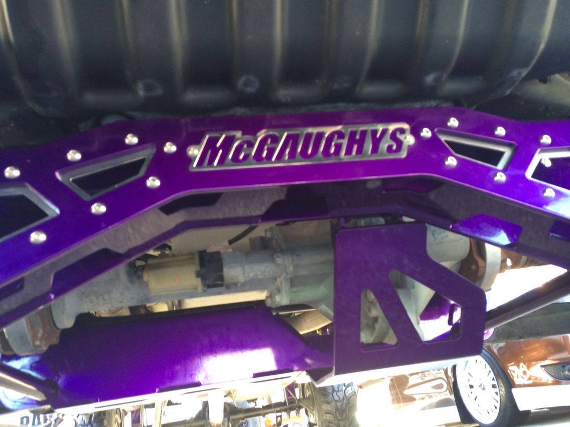 McGaughy's Suspension Lift powder coated Illusion Purple in honor of Alzheimer's Awareness!