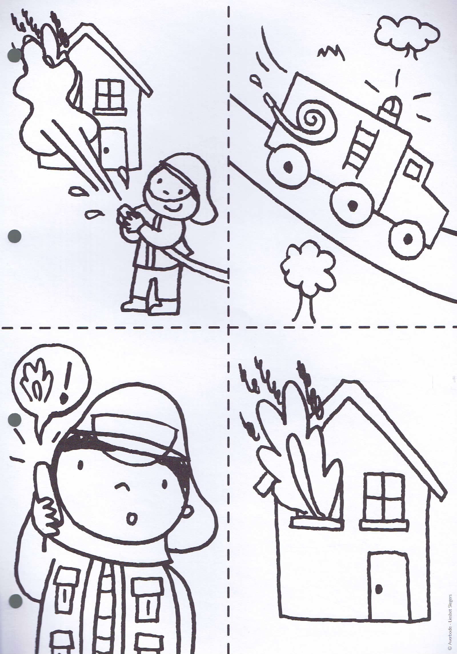 Firefighter Worksheet For Kindergarten