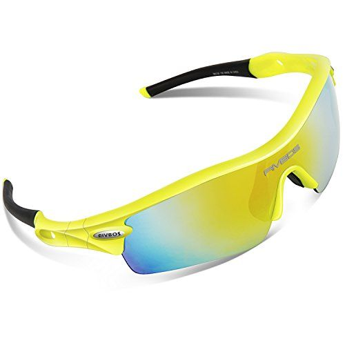 49e4e70a94 RIVBOS 805 Polarized Sports Sunglasses Sun Glasses with 5 Set  Interchangeable Lenses for Men Women Cycling