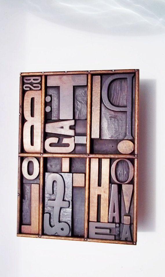 Letterpress Numbers; Letter Press Number; Printer Block Number; Wood Type Set; Type; News Print Number; Sorts; Vintage Industrial; Address