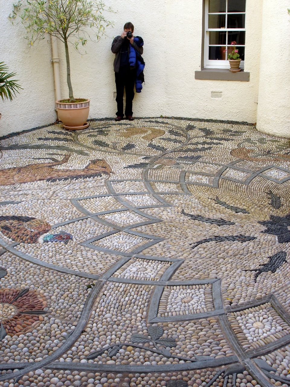 Sassi Piastrelle Ravenna Ward S Island Community Pebble Mosaic Project News From England