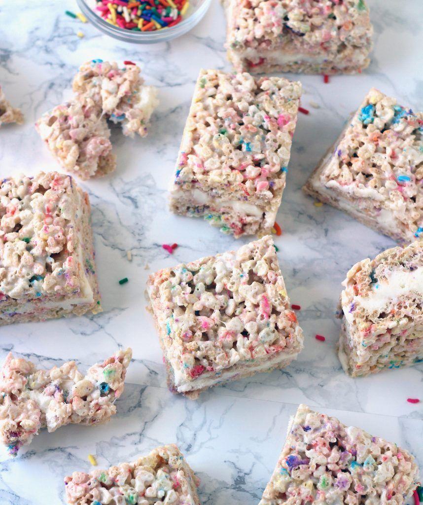 Birthday Cake Rice Krispie Treats Recipe Rice Krispies Treats