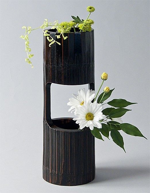 bamboo section vase t pfern pinterest bambus. Black Bedroom Furniture Sets. Home Design Ideas