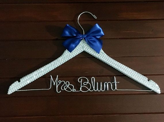 Wedding Dress Hanger Rhinestone Bridal Cinderella Personalized