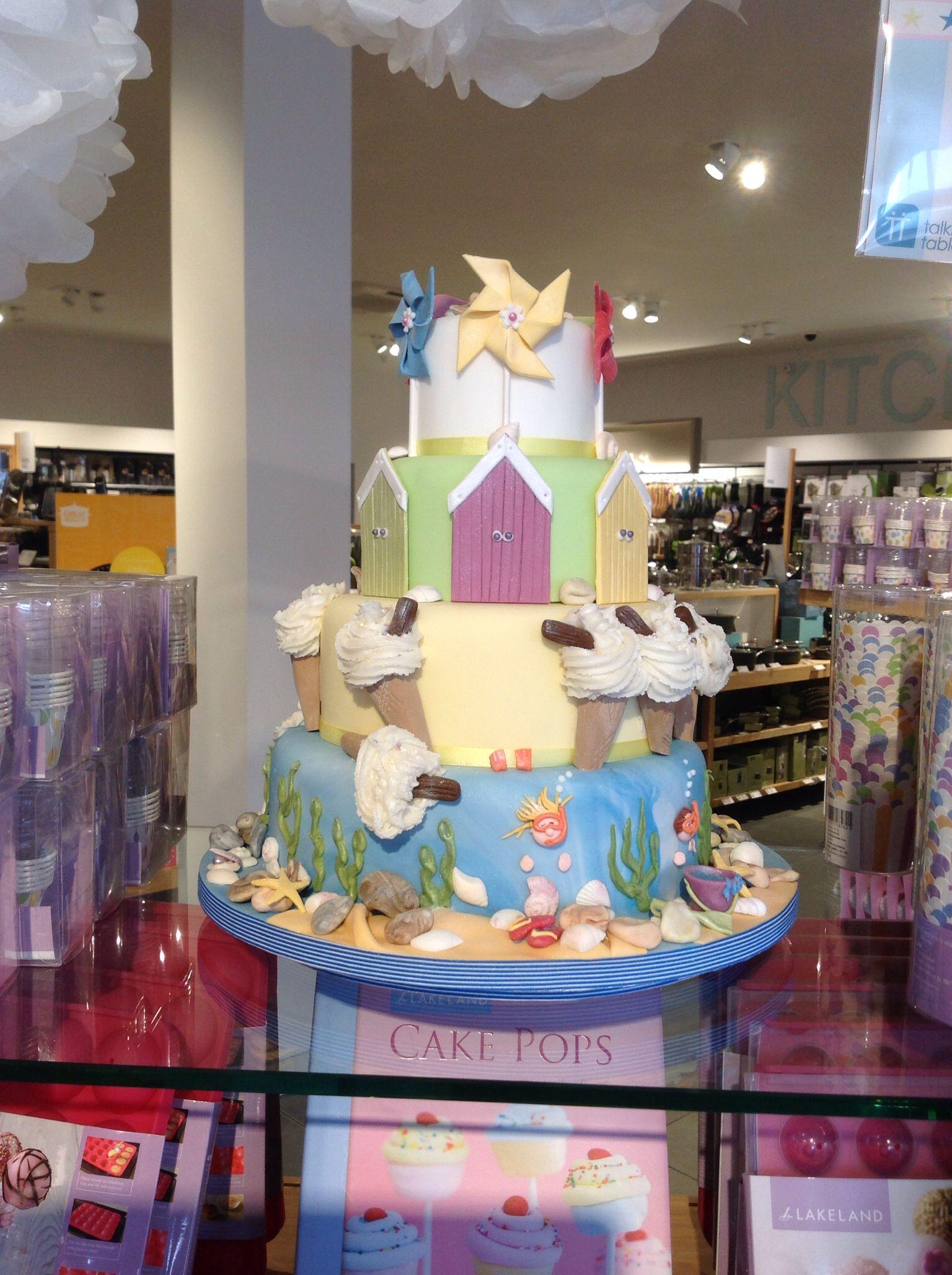 Seaside themed cake by Jane of JustACake Folkestone Now on