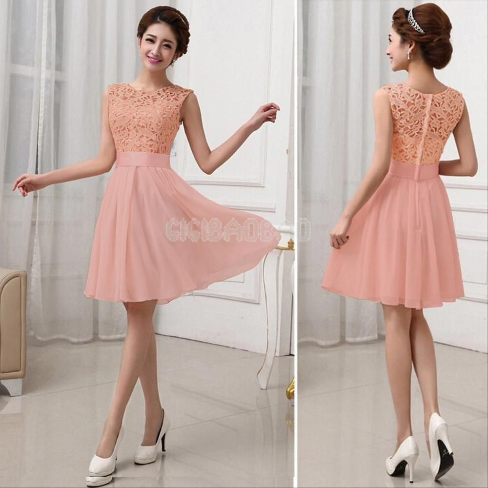 Women Lace Chiffon Prom Ball Bridesmaid Cocktail Party Evening ...